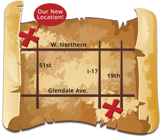 Meet the Crew page map for Phoenix Pediatric Dental and Orthodontics located in Phoenix and Glendale, AZ